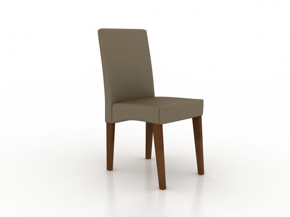 Cadeira estofada com diversos tecidos a escolha