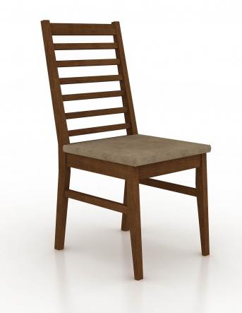 Cadeira estofada no assento com diversos tecidos a escolha