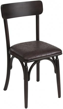 Cadeira em madeira e estofada